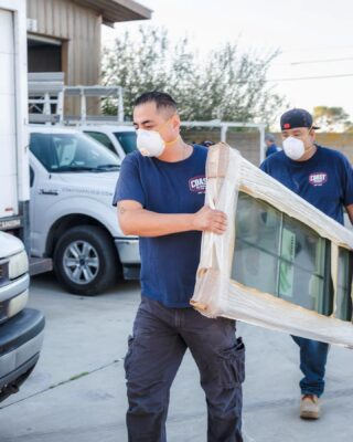 $25k worth of windows went to @hoperefuge on Friday. They'll be installed in tiny homes that will house and help rehabilitate young girls who are victims of sex trafficking here in Santa Barbara. This is why we are here, and why God has blessed us with this business — to give back to others. Thanks to @keyt3kcoy12 for covering this story. News clip in today's story...